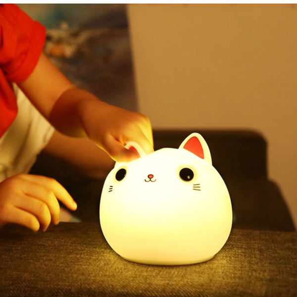 Super Cute Cat Portable LED Rechargeable Night Light