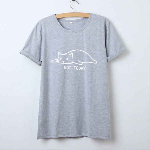 "Kawaii Cat ""Not Today"" Funny T-Shirt"