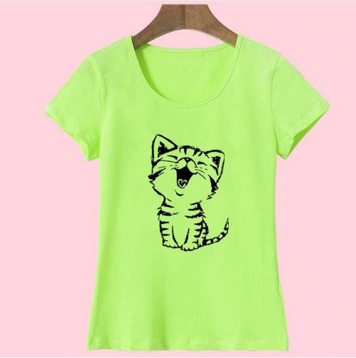 Cute Kawaii Kitty Happy Cat Women's T-Shirt