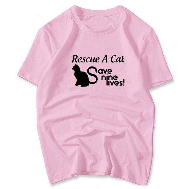 Rescue A Cat - Save Nine Lives T-Shirt