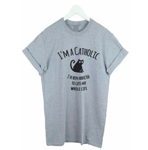 "Cat Lovers ""I'm A Catholic"" T-Shirt"