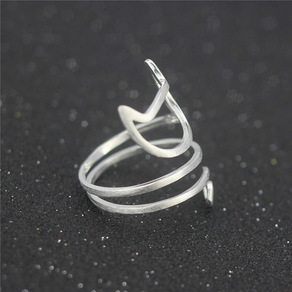 Cat Shaped Wrap Around Ring