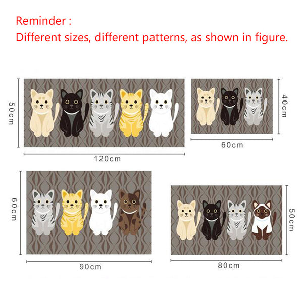 Super Cute Cat Anti Slip Floor Mat