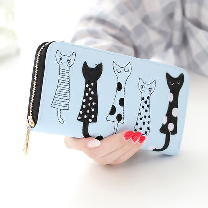 5 Cat Friends Wallet