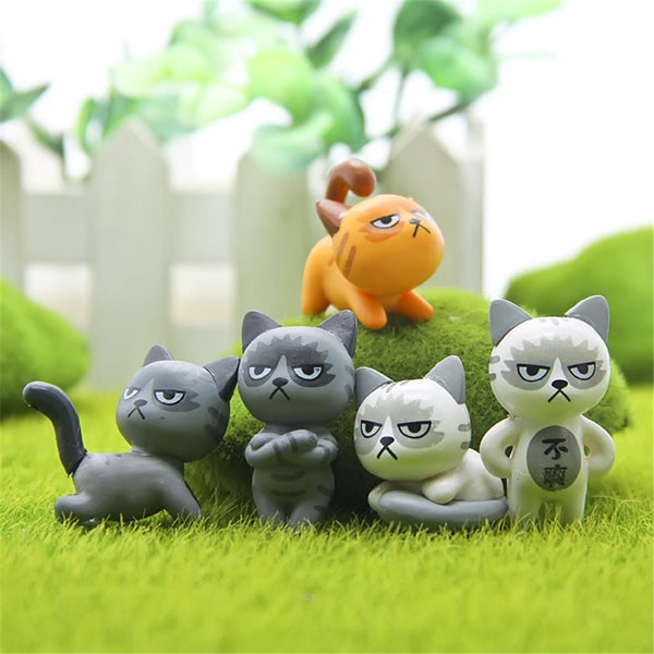 Miniature Garden Guardian Decorative Cats 6 Pieces