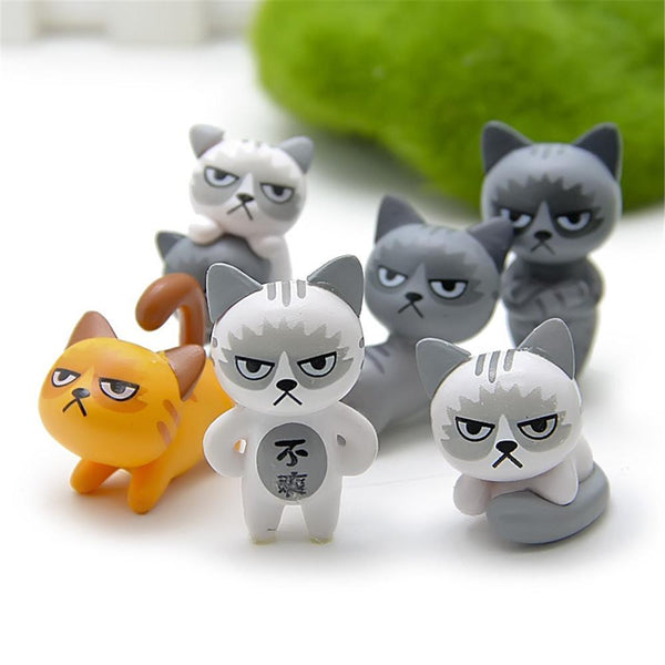 Miniature Garden Decorative Cats 6 Pieces