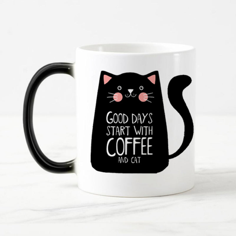 Color Changing Cat Coffee Mug