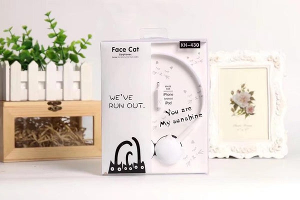 Cute Cat Stereo Earphones
