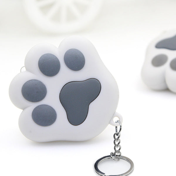 Cute Cat Paw LED Keychain with Sound