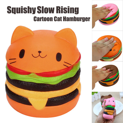 Squishy Cat Hamburger Stress Relief Toy