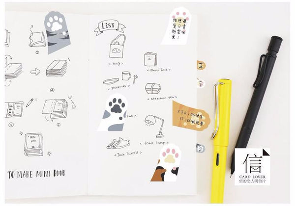 Cute Cat Paw Sticky Note Pads