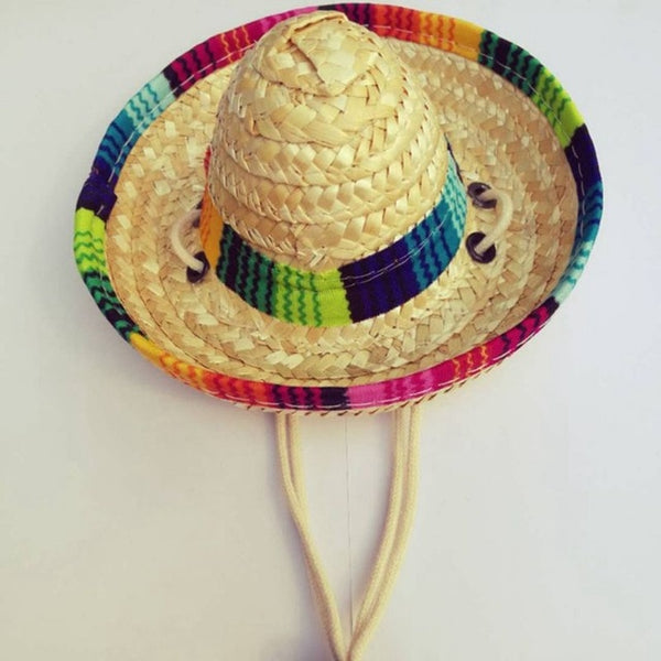 Mini Sombrero Cat Straw Hat