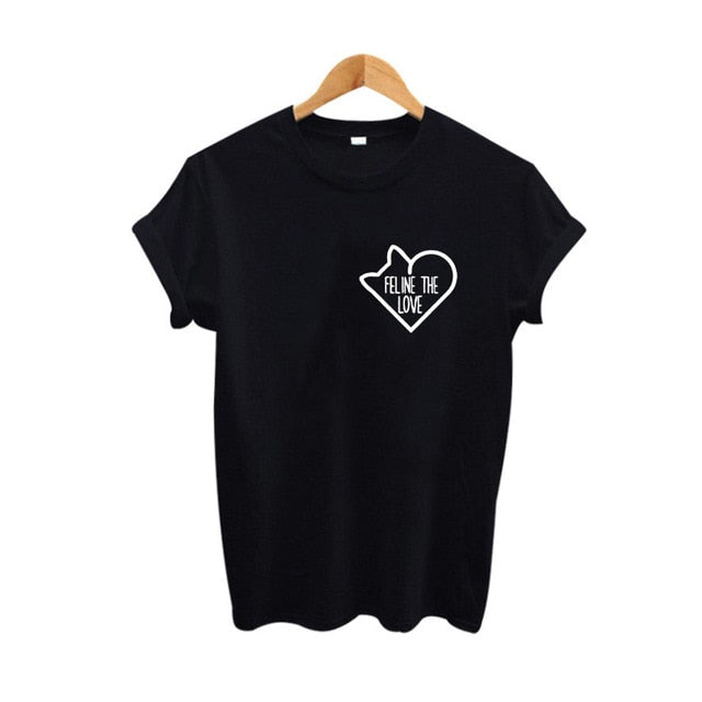 Feline The Love Cat T-Shirt
