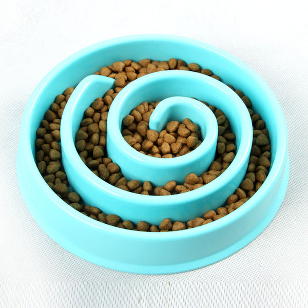 Interactive Plastic Cat Slow Feeder