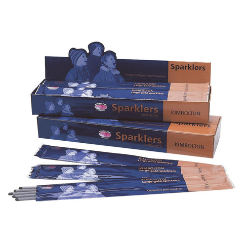 Large Gold Sparklers - (packet of 5)