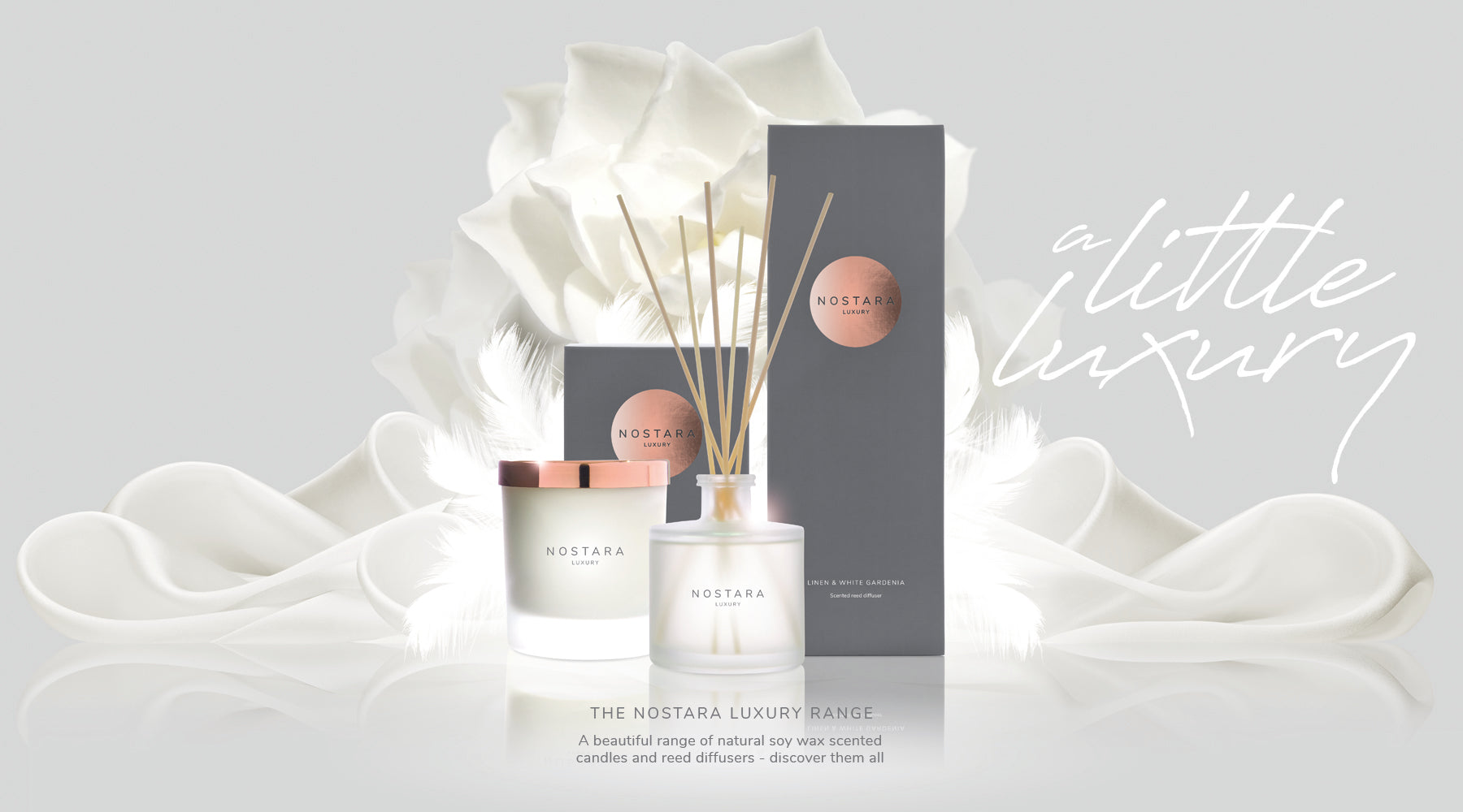 Nostara core range soy candle and reed diffuser collection