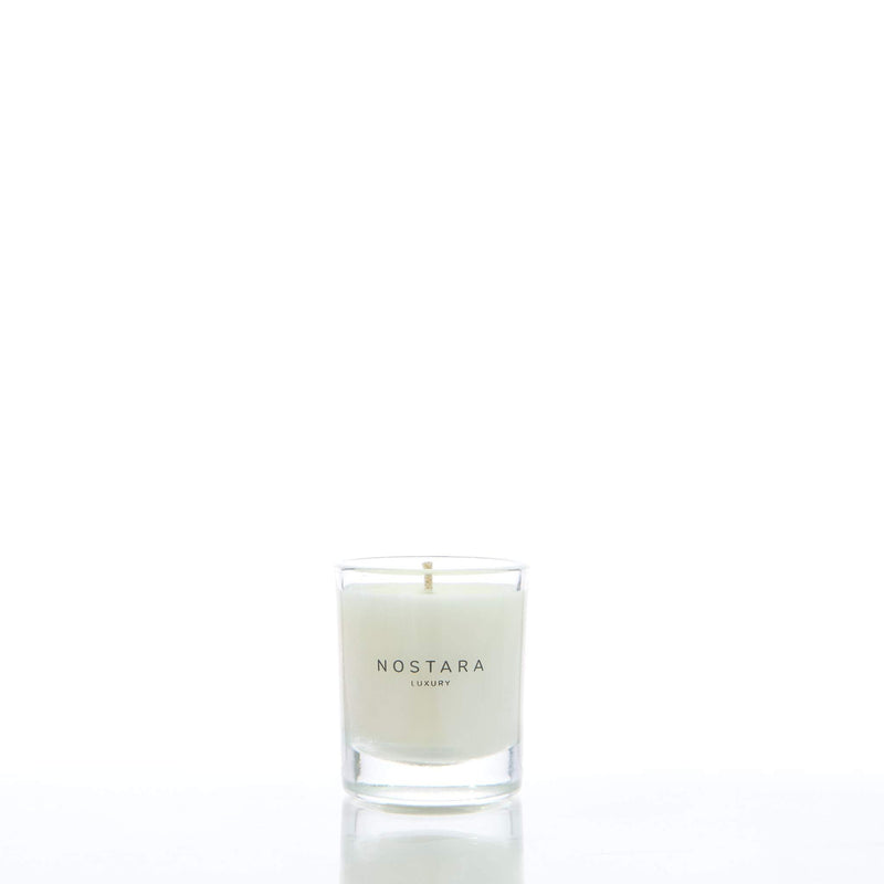 Leather & Vetiver Scented Travel Candle-Travel-Nostara