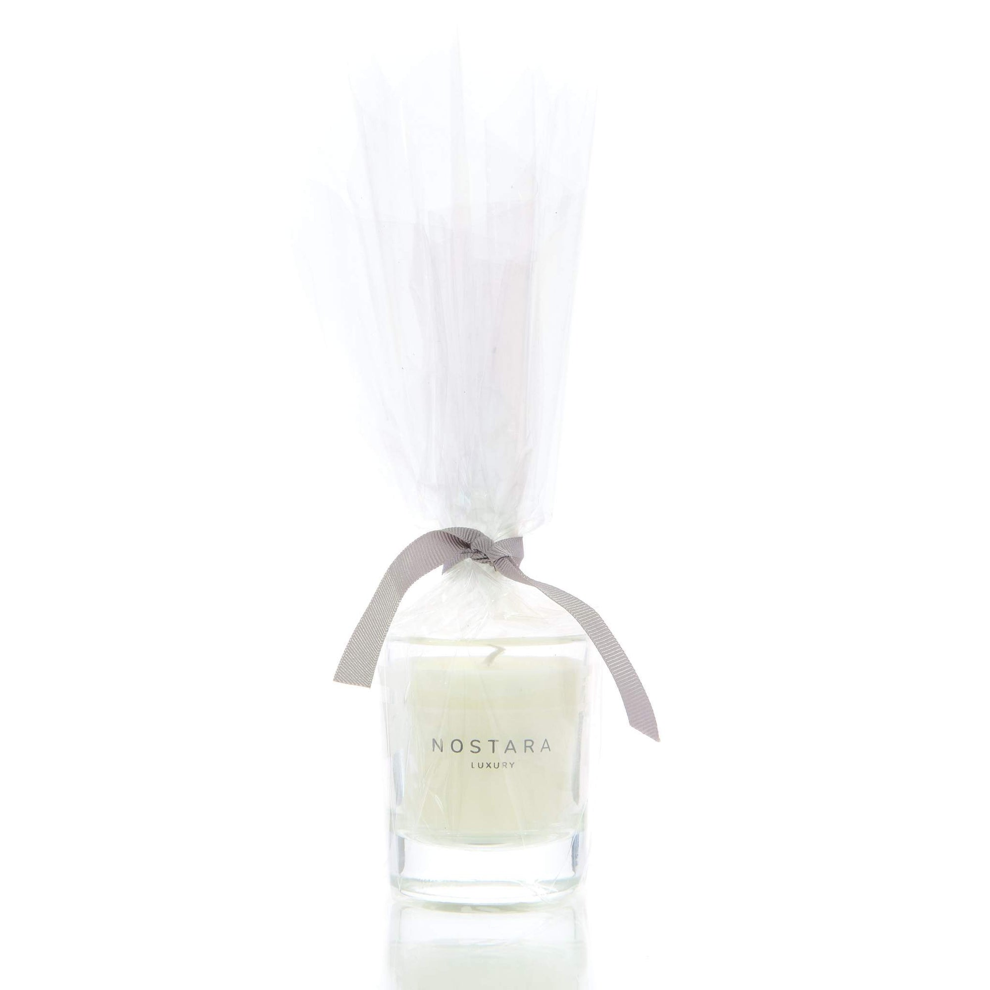 Linen & White Gardenia Scented Travel Candle-Travel-Nostara