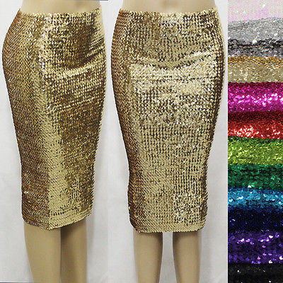 Sexy Dencer Clubwear Bling Full Sequin Bodycon Sheath Party Dress Pencil Skirt