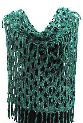 Women Winter Crochet Knit Infinity Warm 2 Circle Long Scarf Cowl Neck Scarves