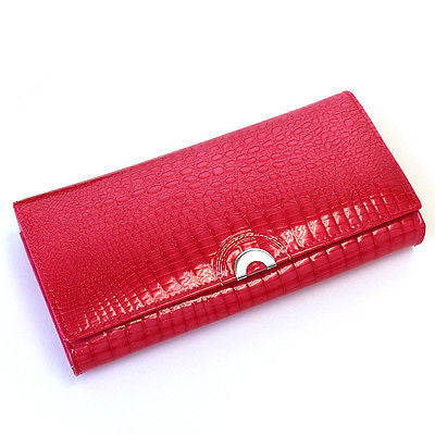 USA Ship Best Gift Box Women Genuine leather Long Wallet Clutch Card Coin Holder