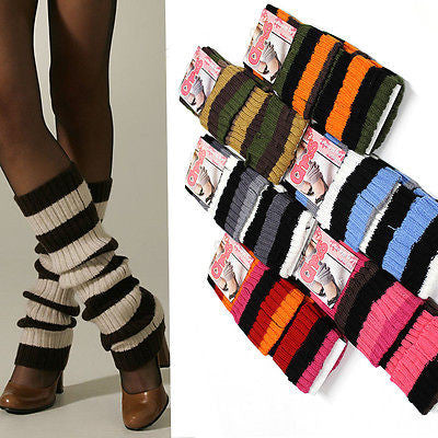 Womens Crochet Knit Leg Warmers Boot Socks Knee High Long LEGGING SOCKS Bow Tie