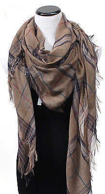 Hot classy Women Plaid Scarf Wrap Shawl Checked Blanket Oversized Tartan spring