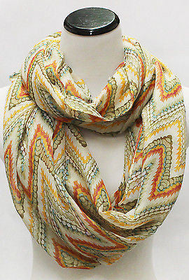 Women Fashion chevron ZigZag Long circle Infinity Wrap Double Loop Scarves Scarf