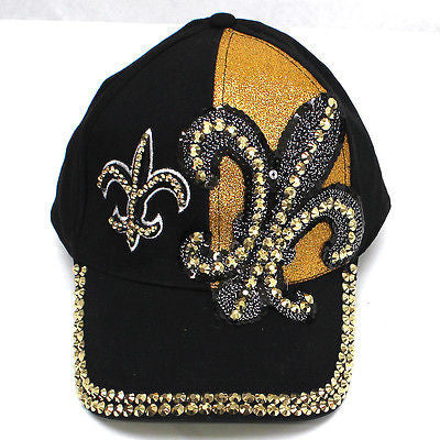 Men Women Glitter Baseball Hat Rhinestone Crystal Studded Cap 100% Cotton Hats