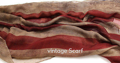 Women Vintage USA American Flag Stars Striped Scarf Scarves Wrap Infinitiy Cowl