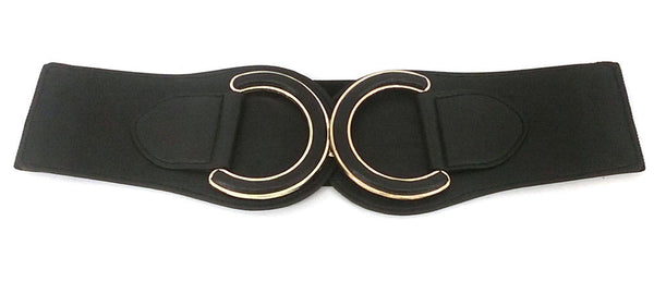 Classy Women Western Fashion WAIST HIP WIDE ELASTIC BELT Stretch Faux Leather