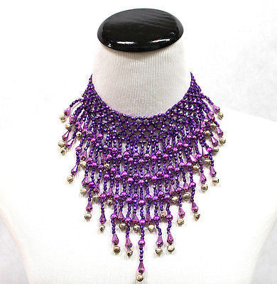 Sexy Belly Dance Necklace With Bell Beads Jointed Tassel CLUB WEAR PARTY Dancer