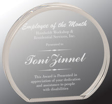 Clear Round Cast Acrylic Plaque