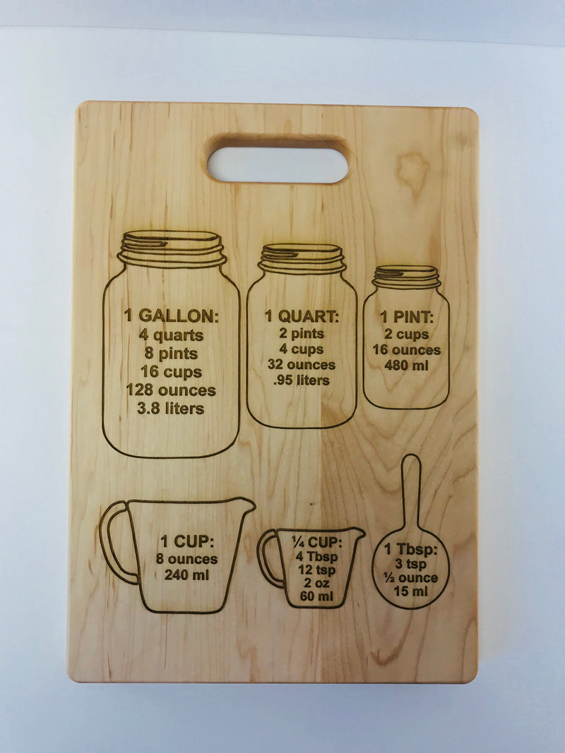 "Maple Cutting Board-13.75"" x 9.75""-Measures"