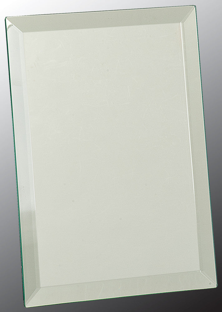 "Glass Plaque-6"" x 8""-Clear Mirror"