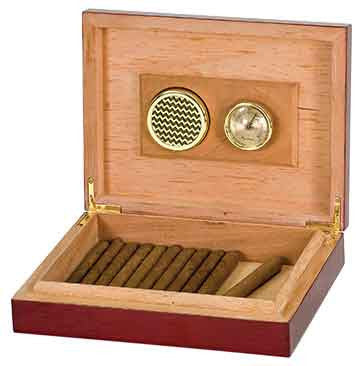 Humidor with Rosewood Piano Finish