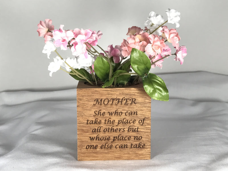 Mother's Day Planter Cube - Mother of Pearl
