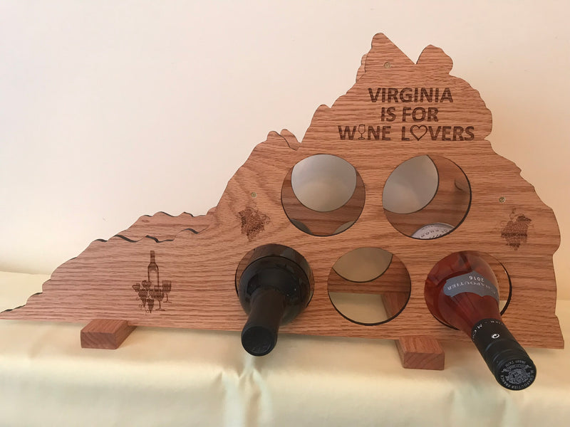 Virginia Wine Rack - Oak