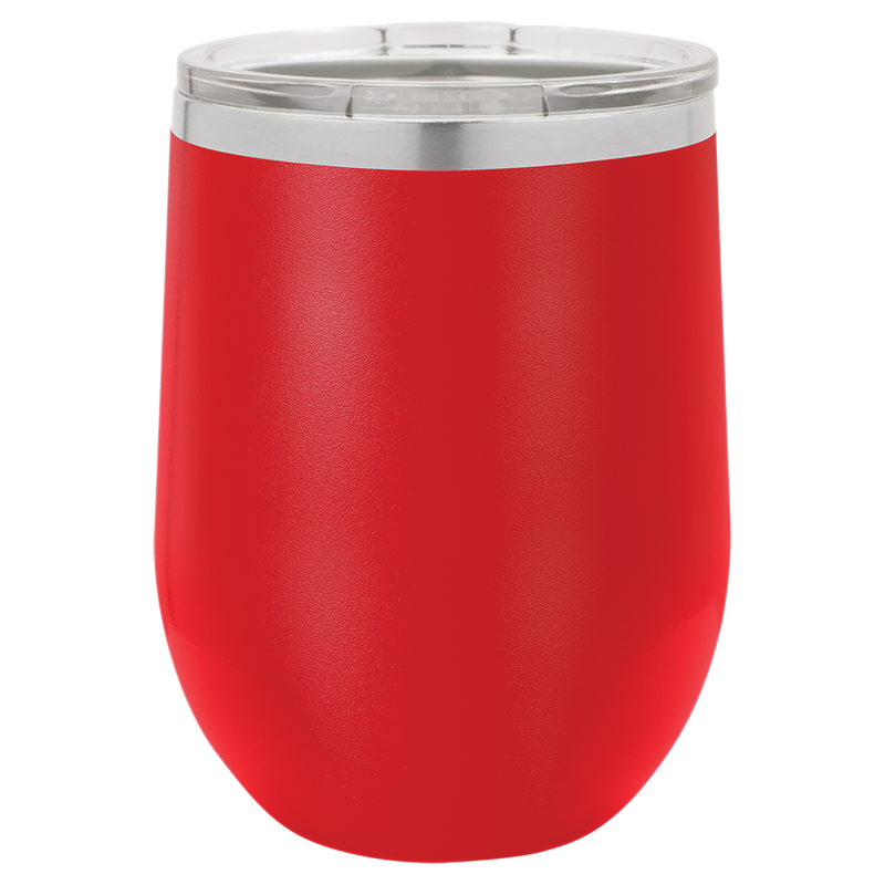 Wine Tumbler Red 12 oz Vacuum Insulated with Lid