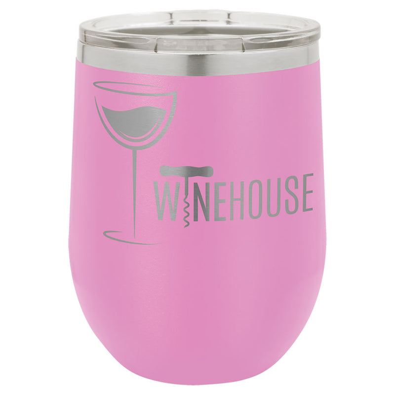 Wine Tumbler Light Purple 12 oz Vacuum Insulated with Lid