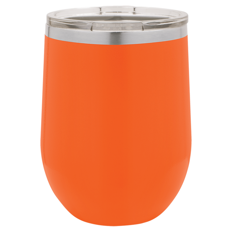 Wine Tumbler Orange 12 oz Vacuum Insulated with Lid