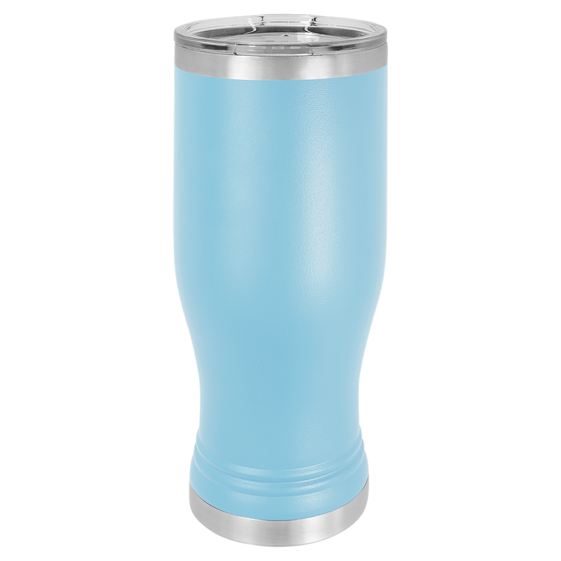 Pilsner 20 oz Tumbler Light Blue w/Clear Lid