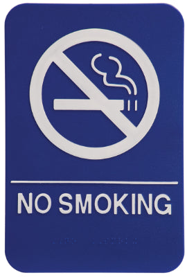 "NO SMOKING Sign - ADA Compliant - 6"" x 9"""