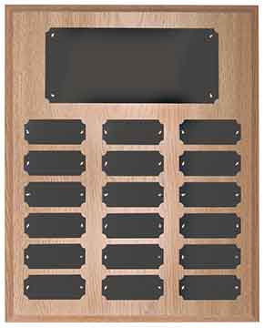Perpetual Plaque-18 Plate-Oak Finish-Completed