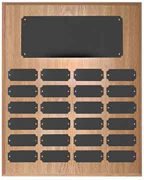 Perpetual Plaque-24 Plate-Oak Finish-Completed