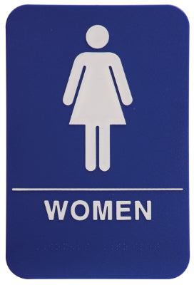"WOMEN Sign - ADA Compliant - 6"" x 9"""