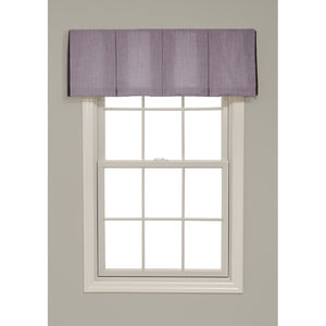 Inverted Box Pleat Solid Color Valance - Revibe Designs