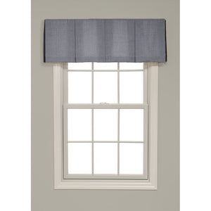 Inverted Box Pleat Solid Color Valance