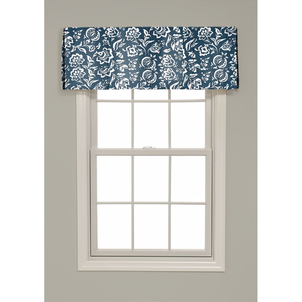 Inverted Box Pleat Rokeby Road Valance