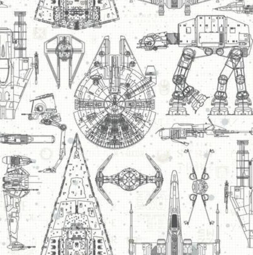 Star Wars Blueprint Peel and Stick Wallpaper